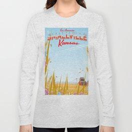 Smallville Kansas retro Travel poster Long Sleeve T-shirt