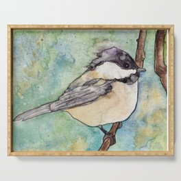 Chickadee Serving Tray