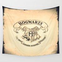 "hogwarts Wall Tapestries featuring HOGWARTS by ""CVogiatzi."