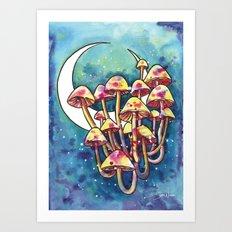 Mushroom Patch Art Print