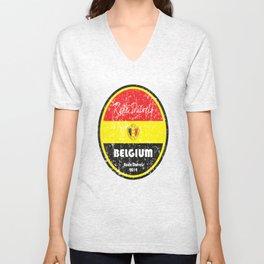 World Cup Football - Belgium (Distressed) Unisex V-Neck