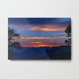 Colorful Sunset - North_Rim, Grand_Canyon, AZ Metal Print