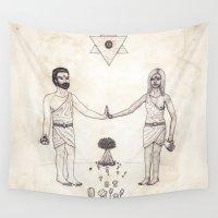tarot Wall Tapestries featuring Tarot: VI - The Lovers by Jæn ∞