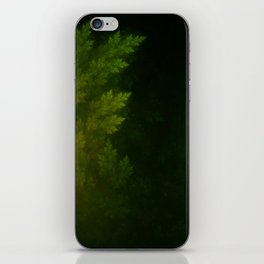Beautiful Fractal Pines in the Misty Spring Night iPhone Skin