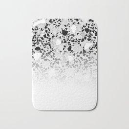 Concrete Terrazzo and Black and White Modern Monochrome Design Bath Mat