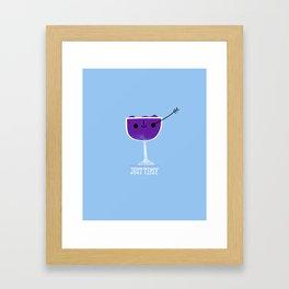 Just Tipsy Framed Art Print