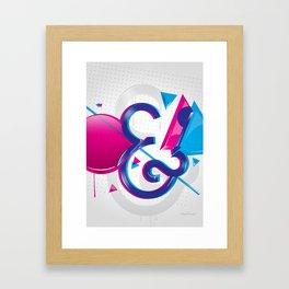 Circles & Triangles Framed Art Print