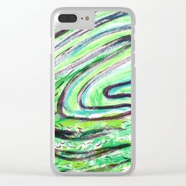 A Windy Green Clear iPhone Case