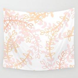 Kay - Blush and Pink Floral Print Wall Tapestry