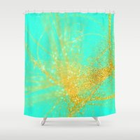 sparkle Shower Curtains featuring sparkle  by haroulita