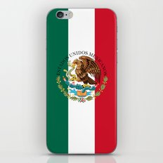 Mexican national flag (augmented scale) with Coat of Arms (overlaid) iPhone & iPod Skin