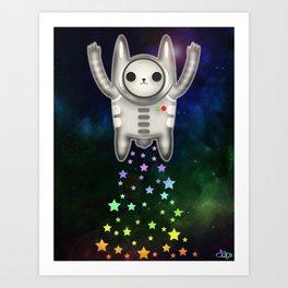 Star Space Bunny Art Print