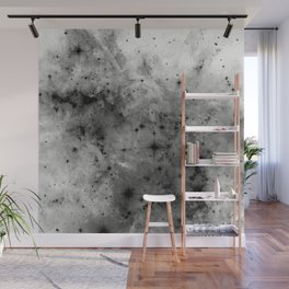 Space Without Colour - Black And White Painting Wall Mural