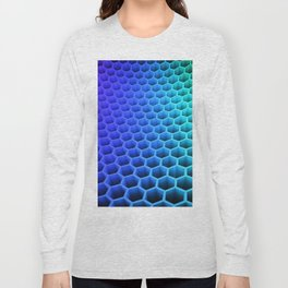 3D Colorful Honey Comb Hexagon Pattern Ultra HD Long Sleeve T-shirt