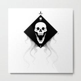 Grin Reaper -  Black Metal Print