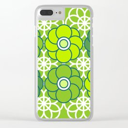 Lace Daisies Clear iPhone Case