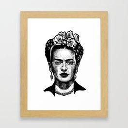 Frida Kahlo Dotwork Framed Art Print