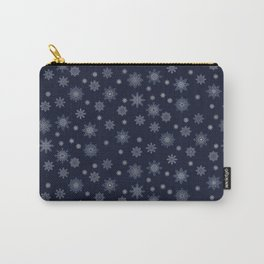 Snowflakes at night Carry-All Pouch