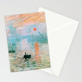 Claude Monet - Impression, Sunrise - Digital Remastered Edition Stationery Cards