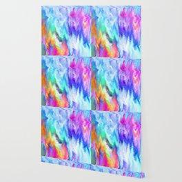 Vibrating Glitch Rainbow Wallpaper