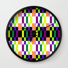 COLORFUL GEOMETRY Wall Clock