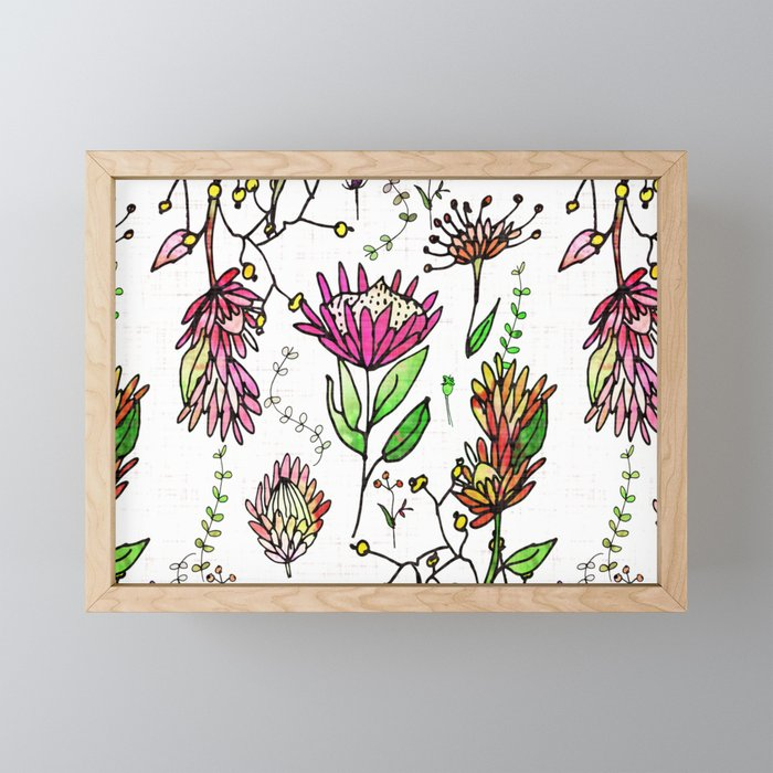Protea Flower Pink #homedecor Framed Mini Art Print