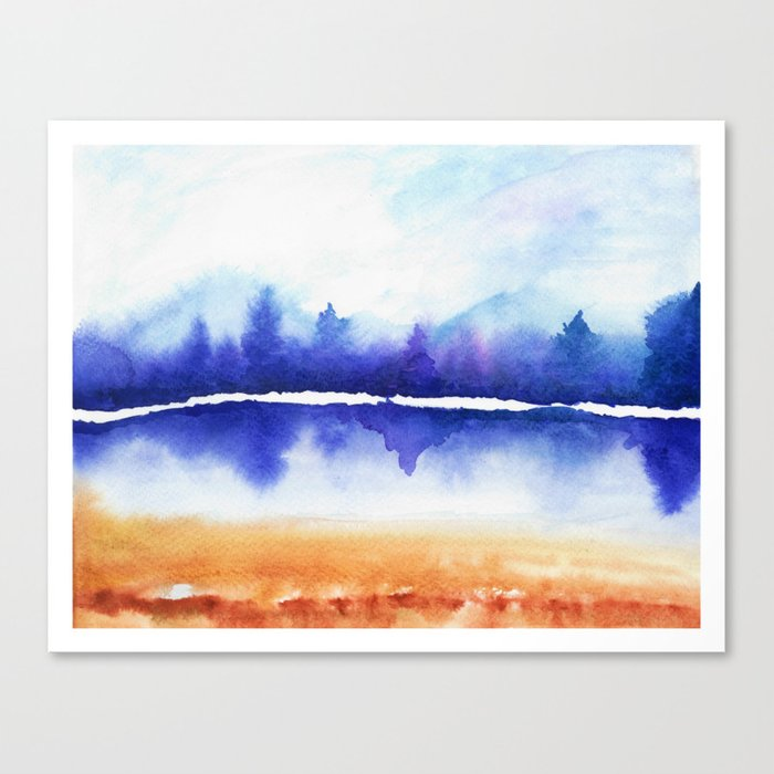 Purple Naturescape Canvas Print