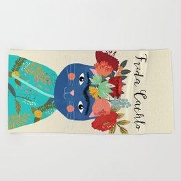 Frida Cathlo Beach Towel