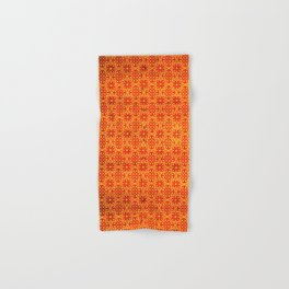 N67 - Yellow & Red Vintage Antique Geometric Traditional Moroccan Style. Hand & Bath Towel