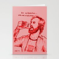 anchorman Stationery Cards featuring Anchorman: Milk was a Bad Choice by Red Misery