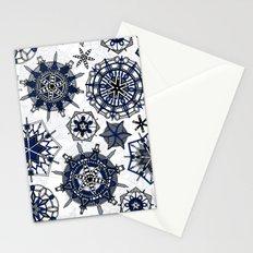 mandala snowflakes Stationery Cards