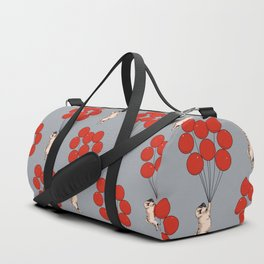 I Believe I Can Fly Pug Duffle Bag