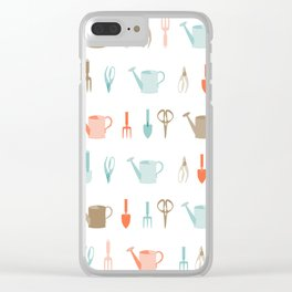 AFE Gardening Tools Pattern Clear iPhone Case