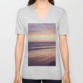 Sunset at Coronado Beach Unisex V-Neck