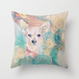 """The Rare """"Chihuahua"""" Cactus Throw Pillow"""