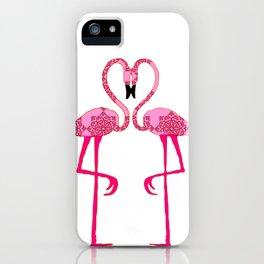 Flamingo  in love iPhone Case