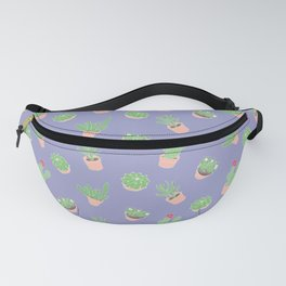 Cactus and Succulent Houseplant Pattern Fanny Pack