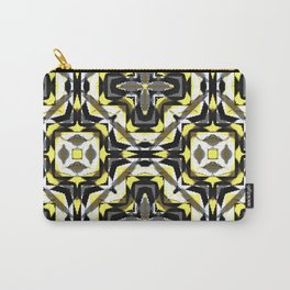 black yellow gray and white geometric Carry-All Pouch
