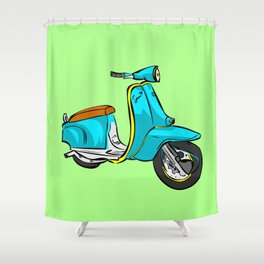 VESPA lambretta mod skin punk gafapasta hipster cool Shower Curtain