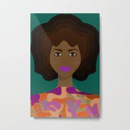 Fro melanin goddess Metal Print