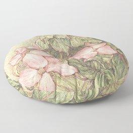 Satomi Dogwood, Pencil Sketch II Floor Pillow