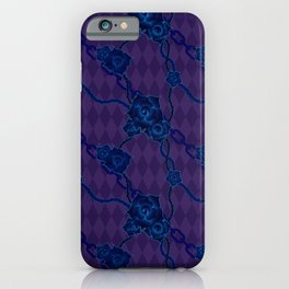 Thorny Rose Vines with Chains iPhone Case