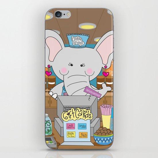 Elsa in the Coffee Shop  - Fun, sweet, creative and colorful, original,digital children illustration iPhone & iPod Skin