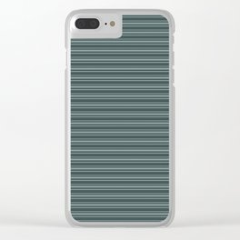 Scarborough Green PPG1145-5 Horizontal Stripes Pattern 2 on Night Watch PPG1145-7 Clear iPhone Case