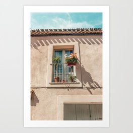 Carcassonne window, France / Architecture photography poster print art print Art Print