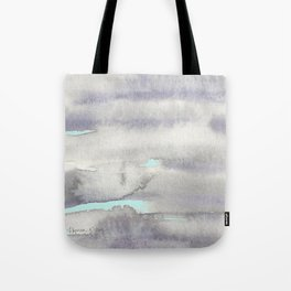 Stormy Weather with Blue Sky Tote Bag