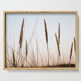 Beach grass III | Calm natural fine art print | Netherlands Serving Tray