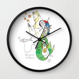 """""""Merman Walking Shark"""" Wall Clock"""
