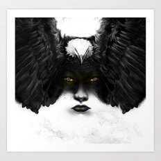 Golden Eyes Art Print
