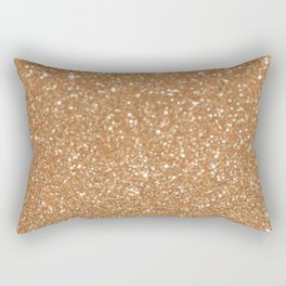 Trendy girl gold bronze abstract glitter pattern Rectangular Pillow